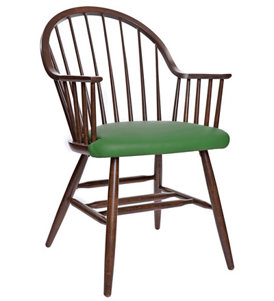 windsor style wood restaurant dining armchair