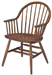Early American Windsor Wood Armchair