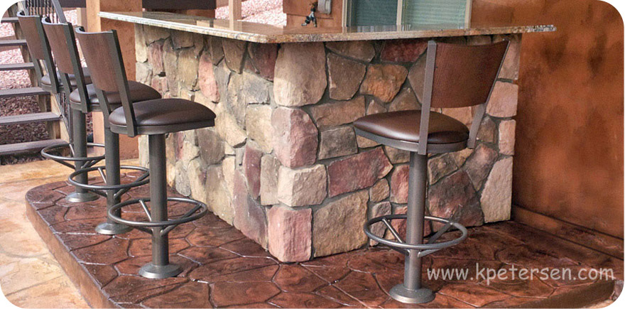 Terrific Wood Back Steel Counter Stools Alphanode Cool Chair Designs And Ideas Alphanodeonline
