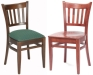 Vertical Back Wood Restaurant Chairs