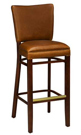 Reprise Wooden Bar Stool Front View