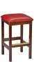 Square Seat Wood Bar Stool