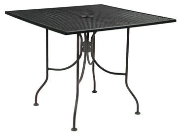 Wrought Iron Outdoor Restaurant Tables 36 inch Square and 36 inch