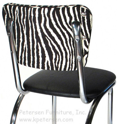 Diner Restaurant Chair Fau Zebra